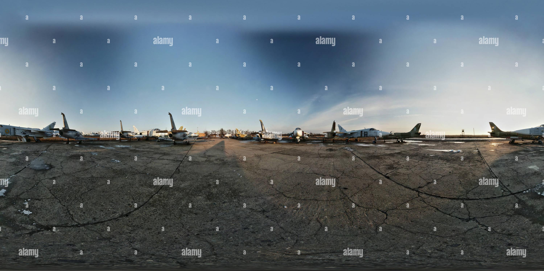 Cimetière d'avion Photo Stock