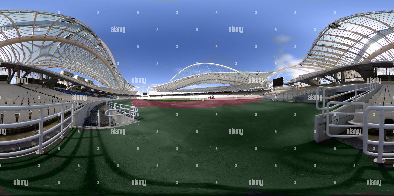 Stade olympique d'Athènes 'pyros Louis' (OAKA) Photo Stock
