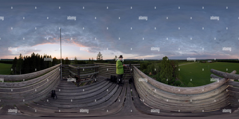 Tour d'observation, Sänkimäki Nilsiä Photo Stock