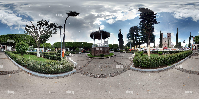 Huandacareo Plaza Principal Photo Stock