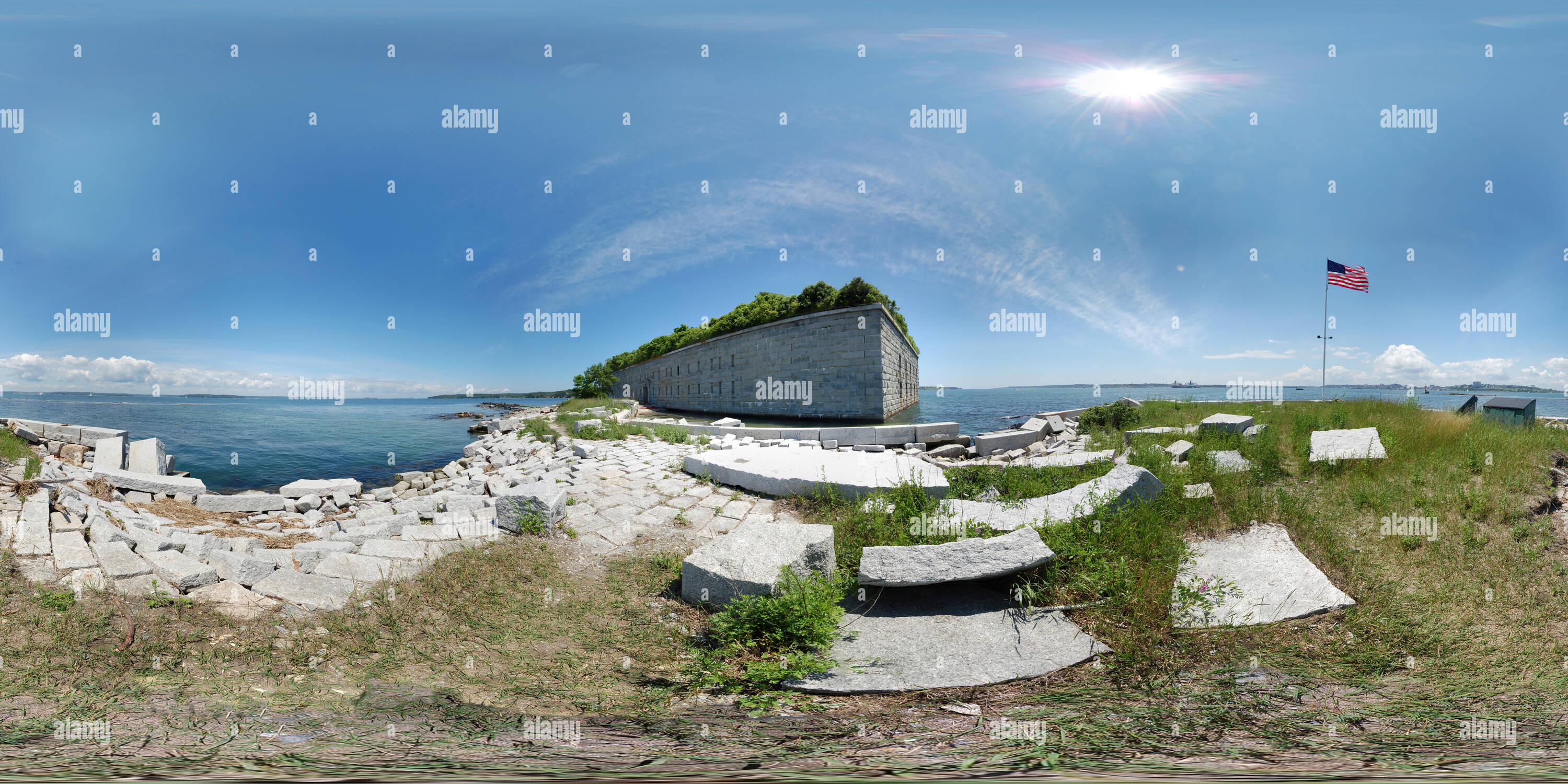 Fort Gorges-Landing Photo Stock