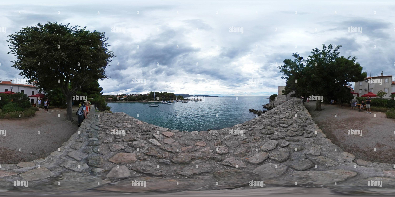 L''île de Krk - Krk Photo Stock