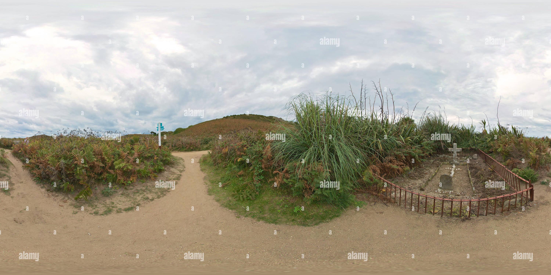 Roberts Cross, cimetière, l'île de Herm Photo Stock