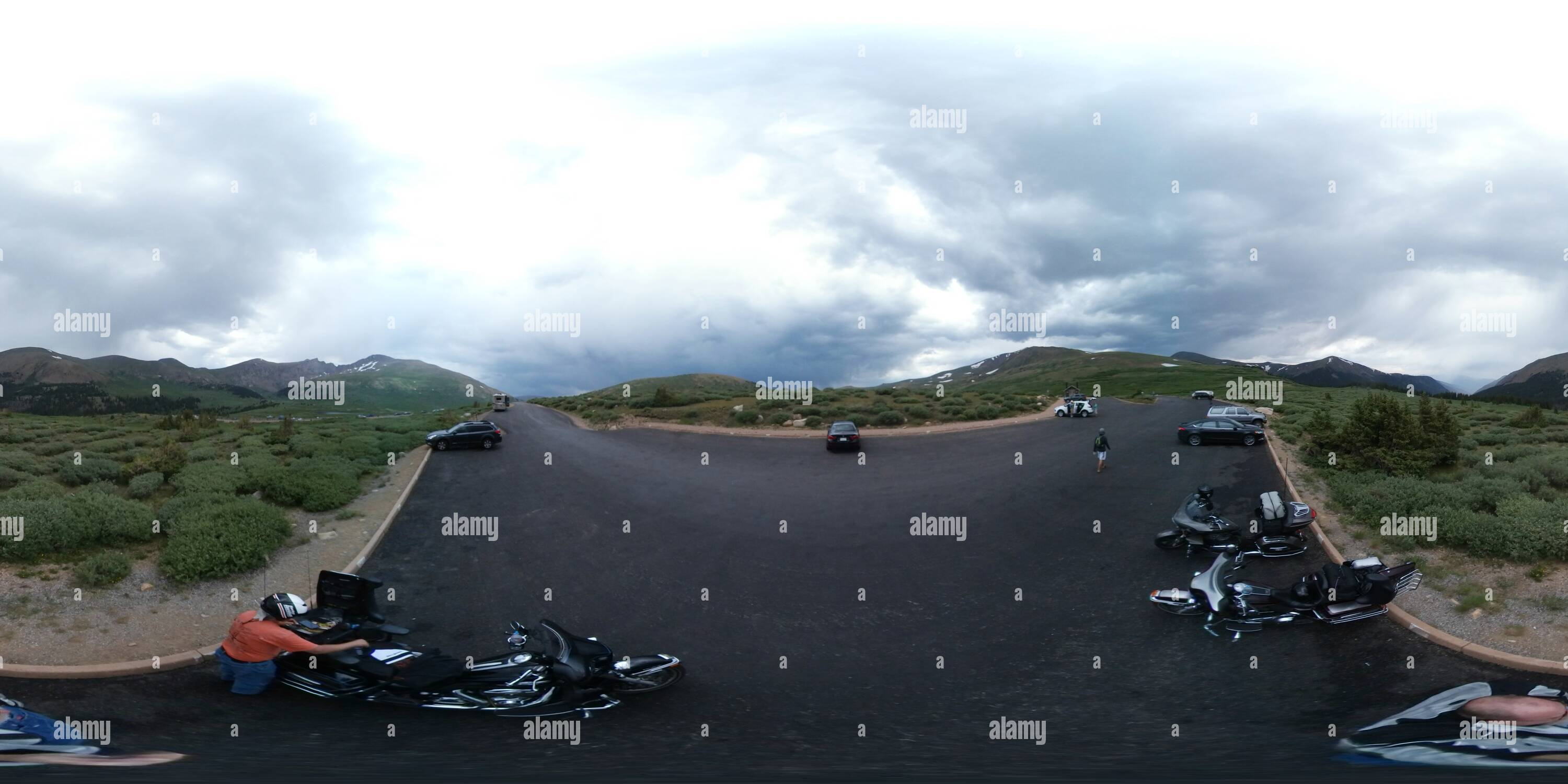 Guanelle Pass, un panorama, Altitude : 11,670ft Photo Stock