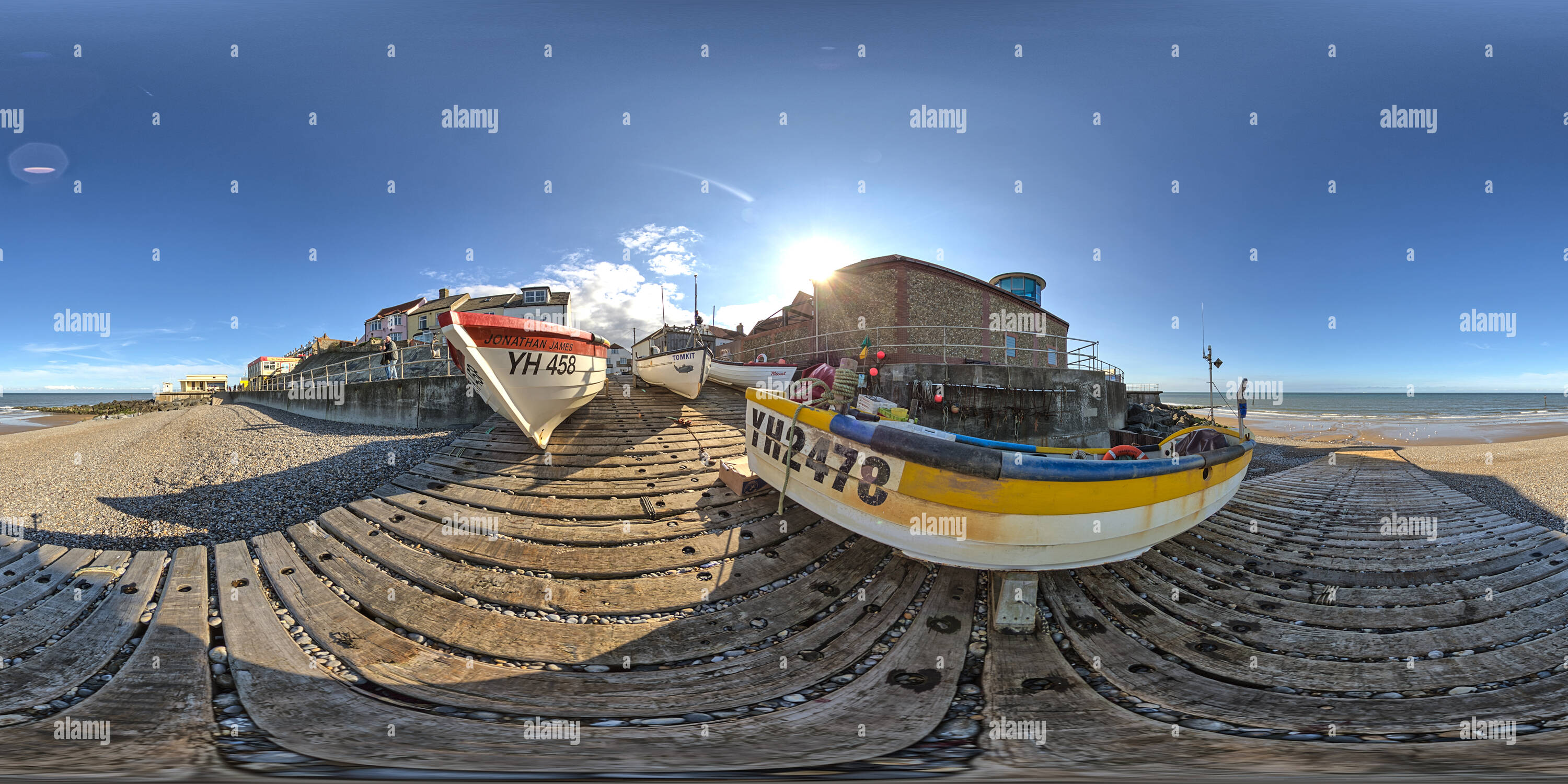 Front de Mer de Sheringham Photo Stock