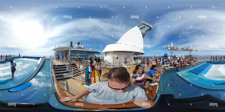 Oasis de la mer Espace sportif Flowrider Photo Stock