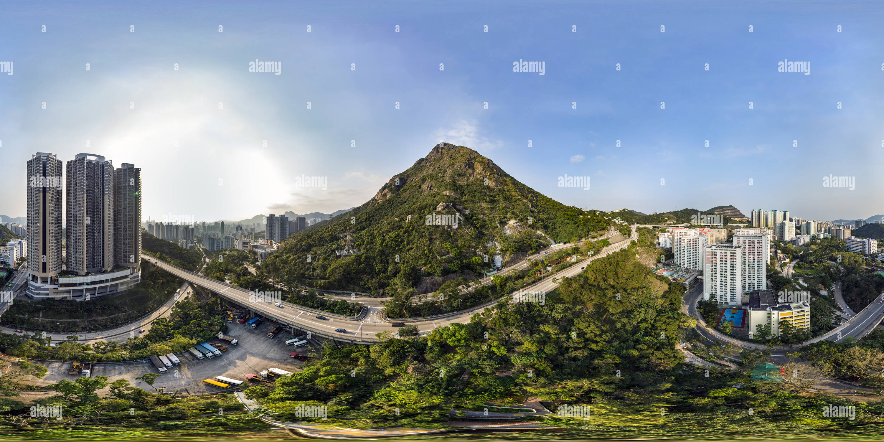 Pic Kowloon(飛鵝山新清水灣道), Nouvelle Clear Water Bay Rd, HK. Photo Stock