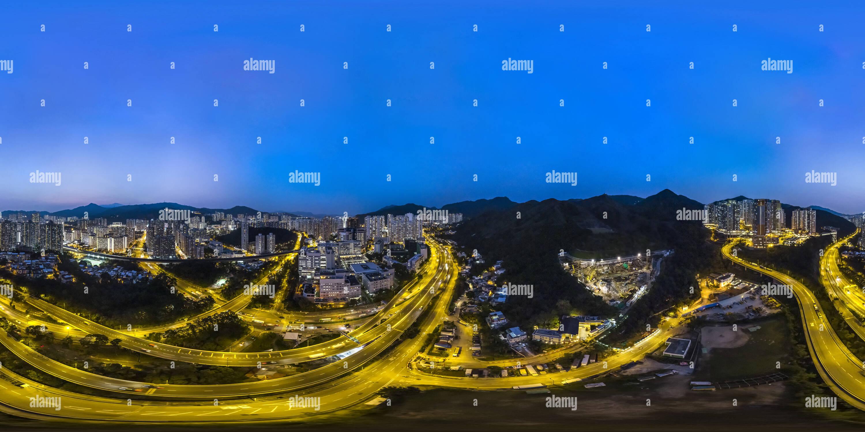 Sha Tin @ nuit(沙田之夜), NT, HK. Photo Stock
