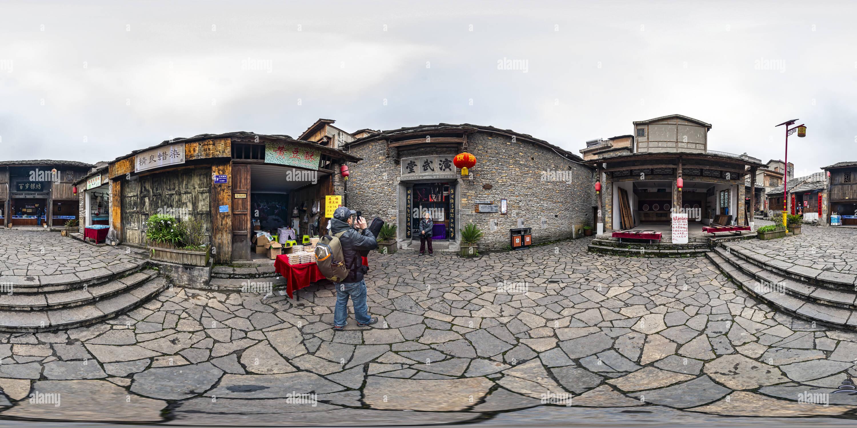 La salle de spectacle militaire(天龍屯堡演武堂), Tian Long, ville ancienne, Guizhou, CN. Photo Stock