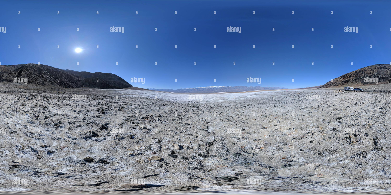 Pano sphérique 360 de la région de Death Valley Badwater Photo Stock