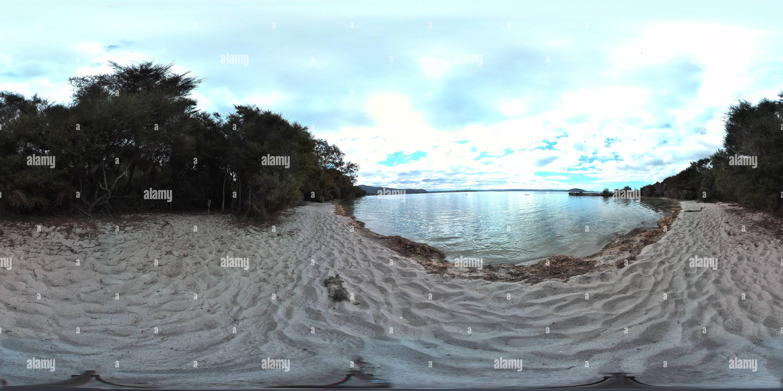 Dans une crique au lac Rotorua nouvelle zélande Photo Stock