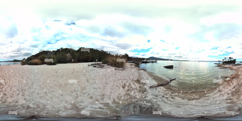 Rocky cove lake rotorua nouvelle zélande Photo Stock