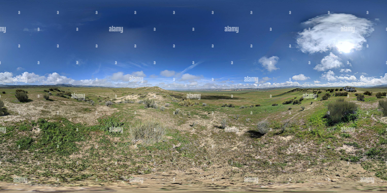 360 pano sphérique de Carrizo Plain National Monument Photo Stock
