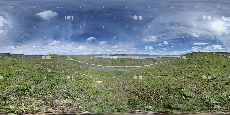 360 pano sphérique à Carrizo Plain National Monument Photo Stock