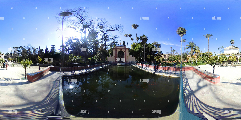 Le Gazebo du Lion de la Reales Alcázares de Séville Photo Stock
