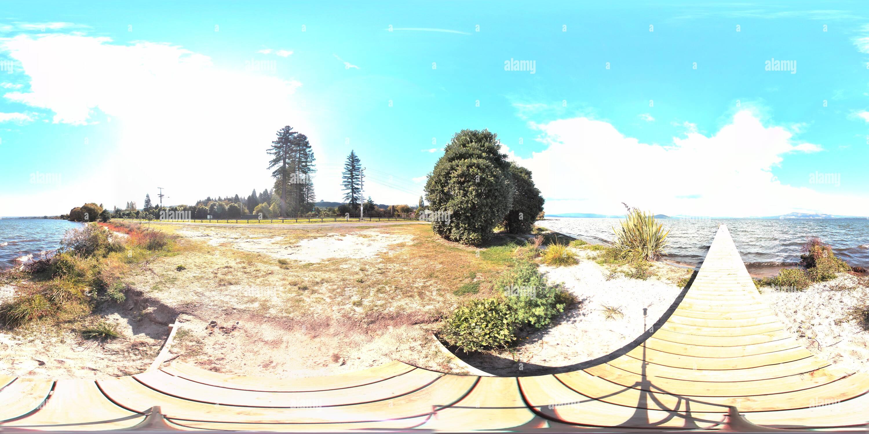 Jetée à hamurana Nouvelle-Zélande Photo Stock