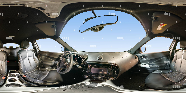 À l'intérieur du Nissan Juke intérieur blanc Photo Stock