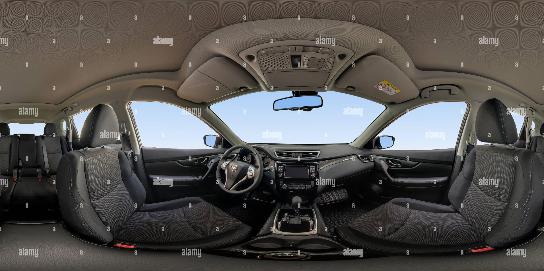 À l'intérieur du Nissan X-Trail intérieur sombre Photo Stock