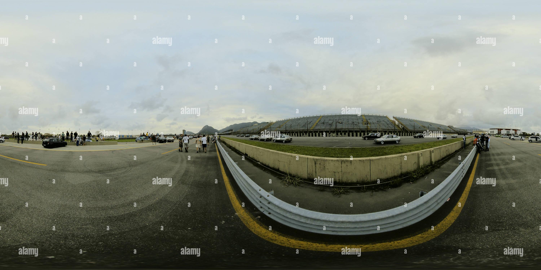 Étape par étape panorama depuis le circuit de course de Nelson Piquet - Autodrome Nelson Piquet - Campeonato de Arrancada. Photo Stock