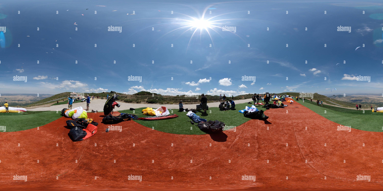 12e championnat du monde de parapente FAI Photo Stock
