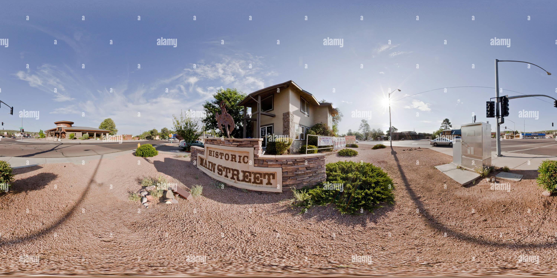 Rue principale et l'autoroute 87, 'La Rue' Payson, Arizona USA Photo Stock