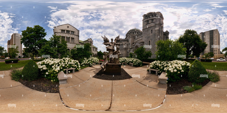 La Cathédrale Basilique de Saint Louis - L'Ange de l'harmonie Sculpture Photo Stock
