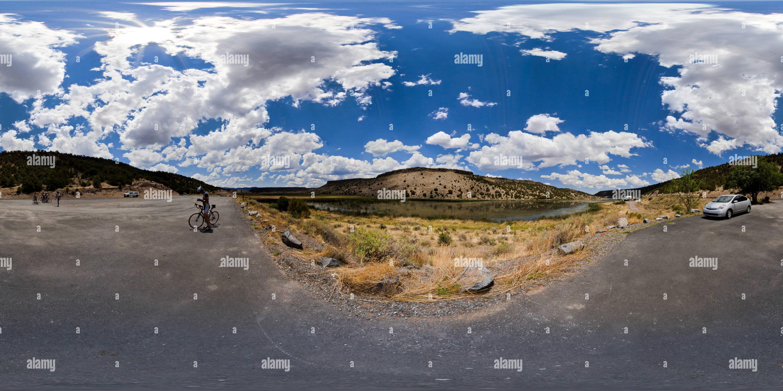 Réservoir de Nelson, Montagnes Blanches, Arizona, USA Photo Stock