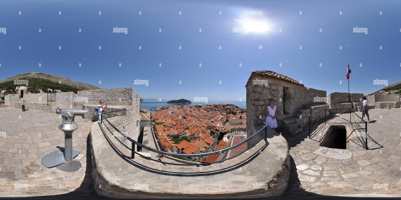 Dubrovnik, la vieille ville, vue de la Tour Minceta Photo Stock