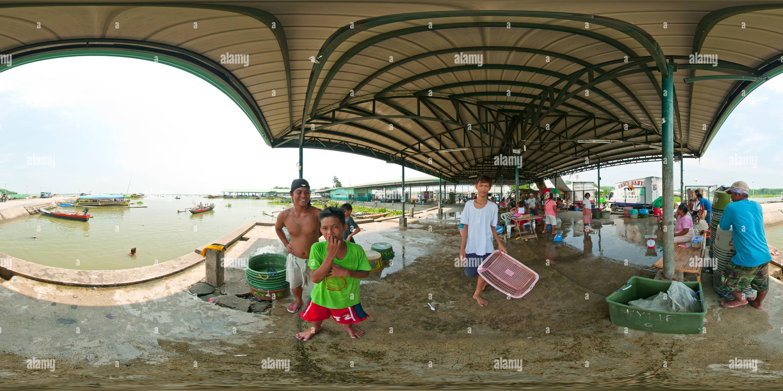 Port de poissons Binangonan Photo Stock