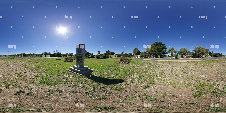 Le Football australien et Thomas Memorial Monument Wills Photo Stock