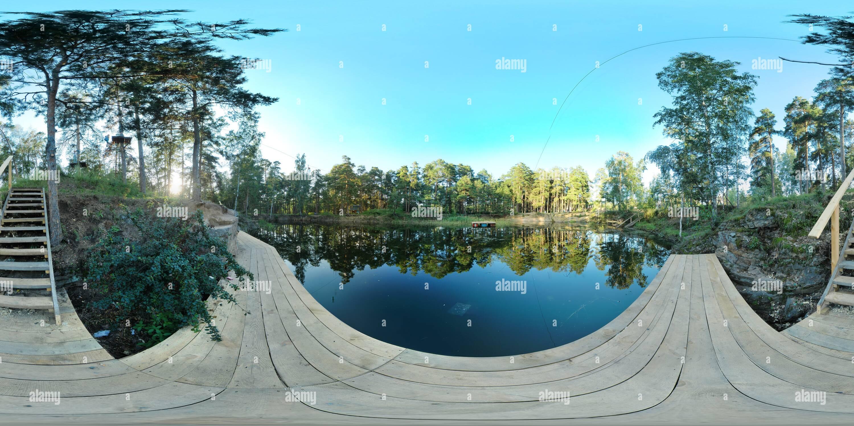 Chelyabinks, 3068 Parc, petit étang Photo Stock