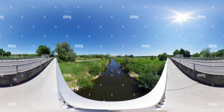 Rivière Lahn près de Heuchelheim près de Giessen, ALLEMAGNE Photo Stock