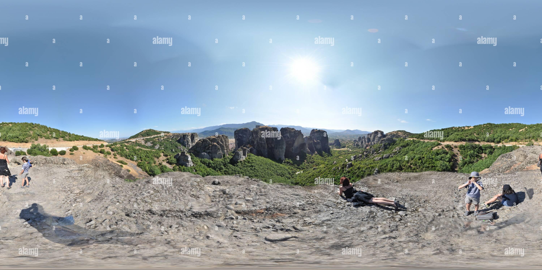 Meteora-proche-grand-meteorom Photo Stock