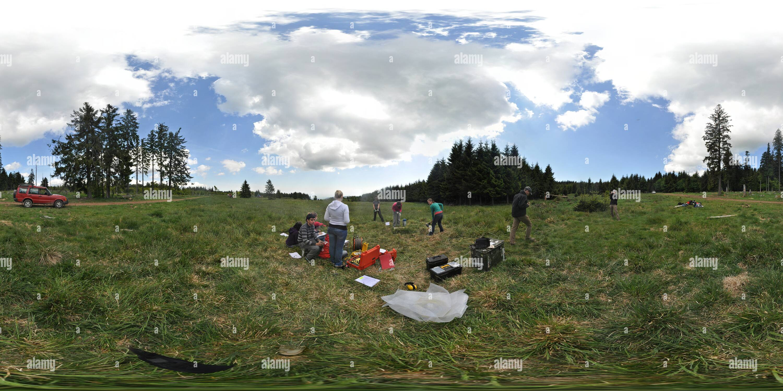 EOST-field-géophysique-VerticalSeismicProfile Photo Stock