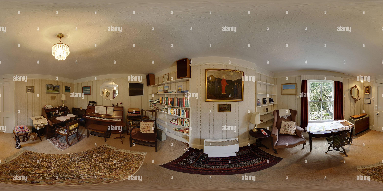 Charles-causley-s-house-en-launceston-prix-2-étude-prix Photo Stock