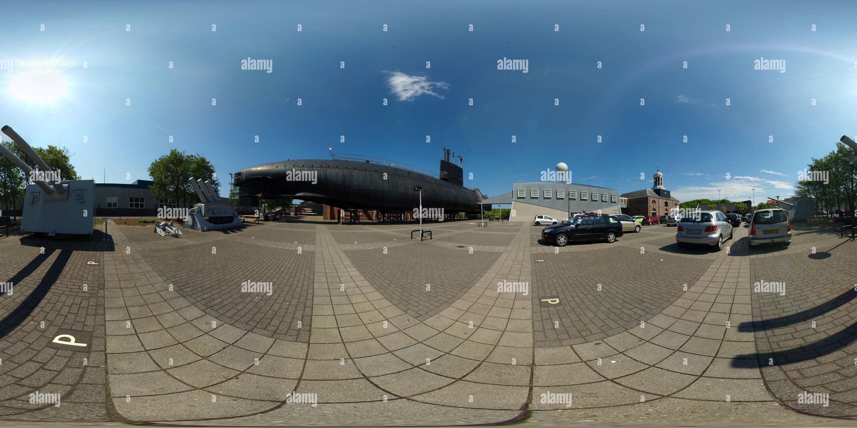 Motifs de l'ancien quai de la marine Willemsoord à Den Helder Photo Stock