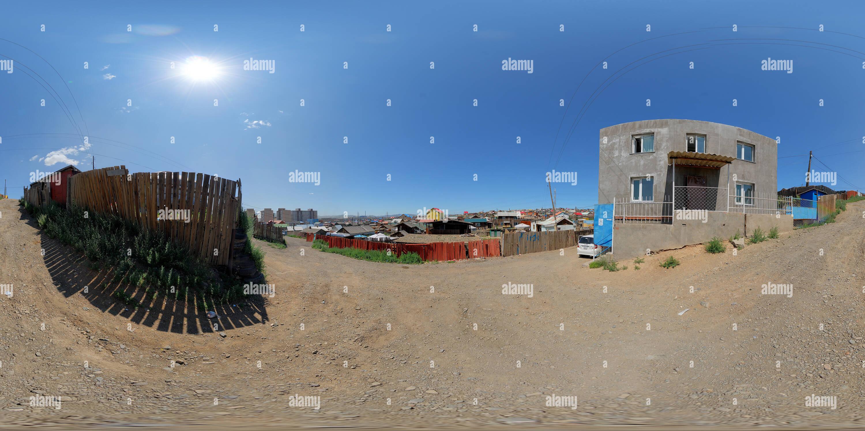 Une partie de la ville avec rait Ulanbaatar Photo Stock