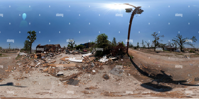 Joplin, Missouri, 5 semaines après la tornade Photo Stock