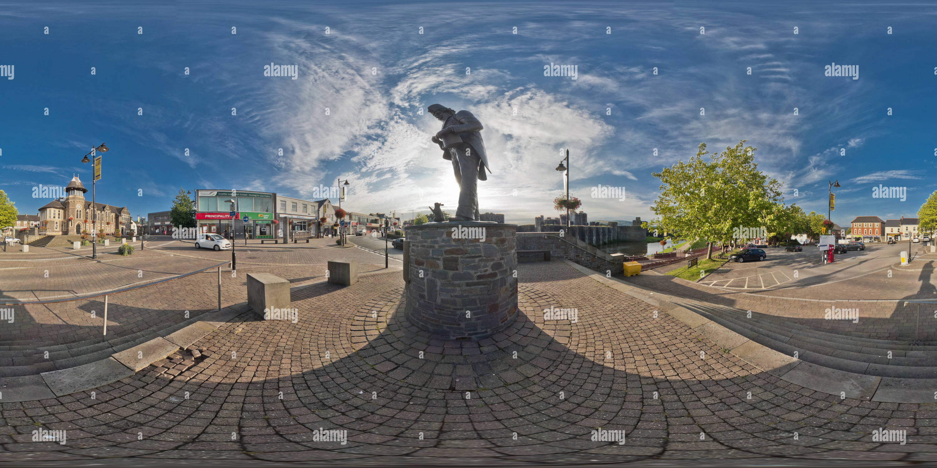 Tommy Coopers statue, Caerphilly Photo Stock