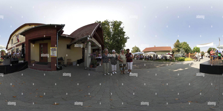 Szeged-Tape - parents et le village-orchestre Photo Stock