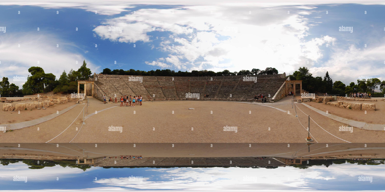 L'ancien théâtre d'Epidaure Photo Stock