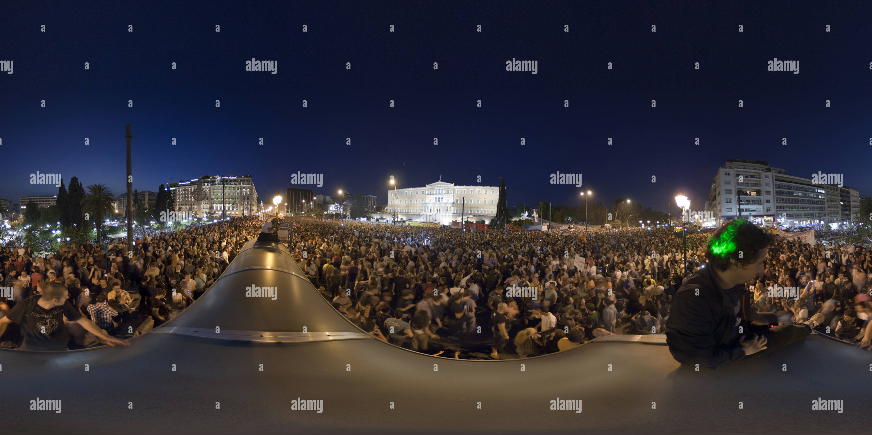 Manifestations grecques Syntagma Photo Stock