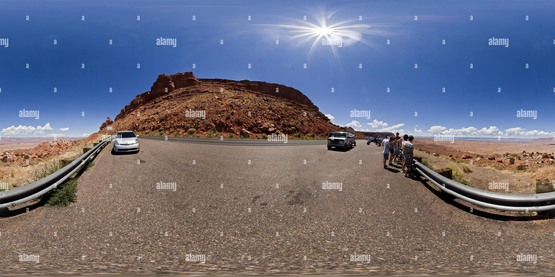 En Canyon et chambre donnent sur la vallée de roche, Réserve Navajo, Arizona USA Photo Stock
