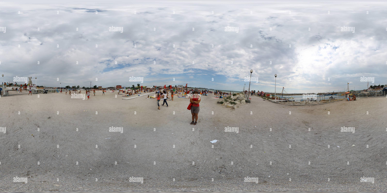 La plage de Costinesti Photo Stock