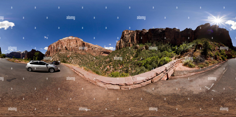 Zion National Park, donnent sur le parc, Utah Photo Stock