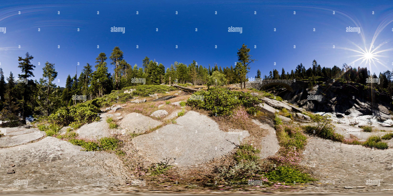 Clover Creek Bridge, Sequoia National Park, California, USA Photo Stock