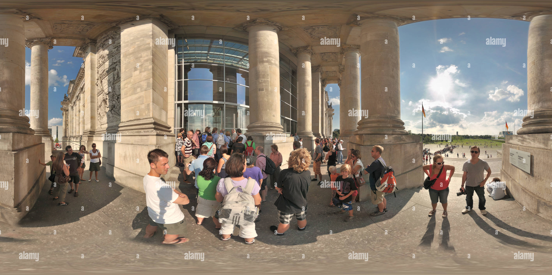 Angemeldete Reichstag Berlin 6997 Besucher Photo Stock