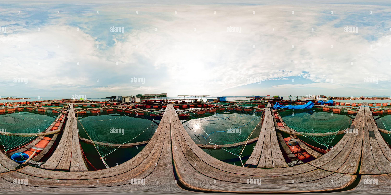 L'élevage de poissons Anmyondo Photo Stock