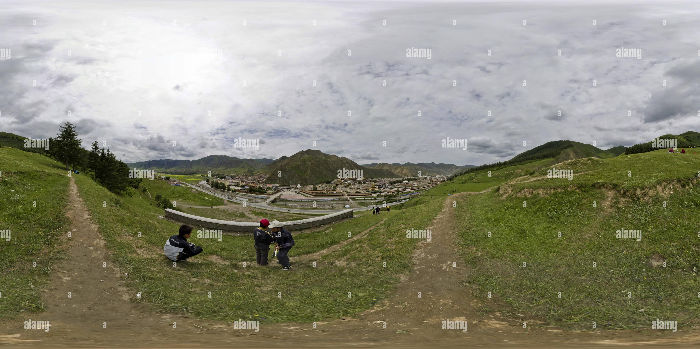 Monastère de Labrang (夏河拉卜楞寺 Houjiangli_), Gansu, CN Photo Stock