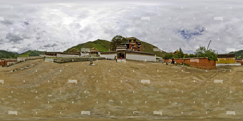Monastère de Labrang2(夏河拉卜楞寺 Houjiangli) Cn Gansu Photo Stock